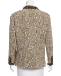Chanel - Natural Wool Tweed Jacket Beige - Lyst
