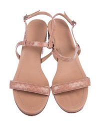 Rachel Comey - Pink Embossed Ankle Strap Sandals - Lyst
