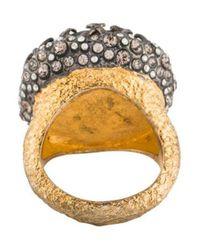 Alexis Bittar - Metallic Labradorite & Crystal Ring Gold - Lyst