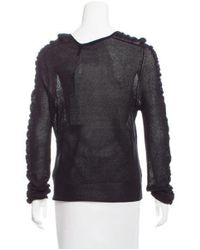 Helmut Lang - Black Ruched Silk Sweater - Lyst