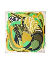Lanvin - Green Silk Abstract Print Scarf - Lyst
