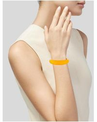 Alexis Bittar - Metallic Lucite Tapered Bangle Gold - Lyst