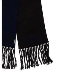 CoSTUME NATIONAL - Blue Fine Knit Logo Scarf Navy for Men - Lyst