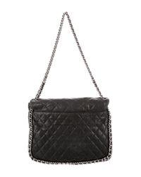 Chanel - Metallic Chain Around Maxi Flap Bag Black - Lyst