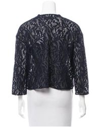 Dior - Blue Lace Cropped Jacket Navy - Lyst