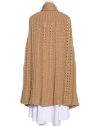 Stella McCartney - Natural Camel & Virgin Wool Poncho Tan - Lyst
