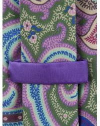 Etro - Purple Silk Paisley Print Tie Multicolor for Men - Lyst