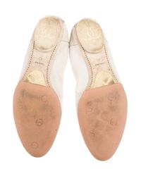 Chanel   Metallic Lizard Cap-toe Flats Tan   Lyst