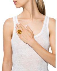 Dior - Metallic 18k Citrine & Diamond Miss Cocktail Ring Yellow - Lyst