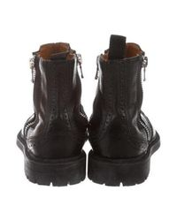 Givenchy - Black Leather Wingtip Ankle Boots for Men - Lyst