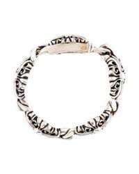 Chrome Hearts - Metallic Link Bracelet Silver - Lyst
