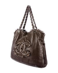 Chanel - Metallic Funny Tweed Bon Tote Brown - Lyst