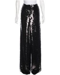 Proenza Schouler - Black Silk Sequined High-rise Pants - Lyst