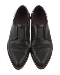 Brunello Cucinelli - Black Monili-trimmed Pointed-toe Oxfords - Lyst