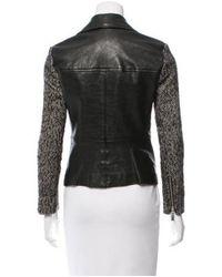 MICHAEL Michael Kors - Black Michael Kors Leather Biker Jacket - Lyst