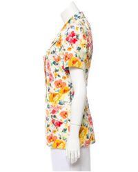 Dior - Floral Print Blazer Multicolor - Lyst