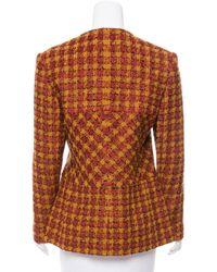 Givenchy - Vintage Wool Patterned Jacket Orange - Lyst