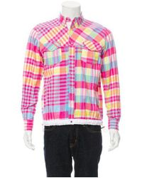Lyst Sacai Plaid Flannel Shirt W Tags In Pink For Men