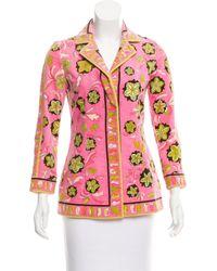Pink Lyst Blazer In Pucci Velvet Printed Emilio Multicolor rqPxq0AvOw
