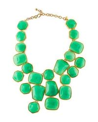 Kenneth Jay Lane - Metallic Resin Collar Necklace Gold - Lyst