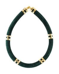 Lulu Frost - Metallic Fabric Collar Necklace Gold - Lyst