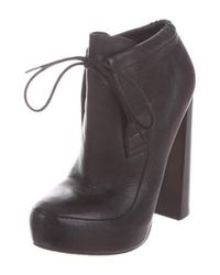 Alexander Wang - Black Platform Leather Ankle Boots - Lyst