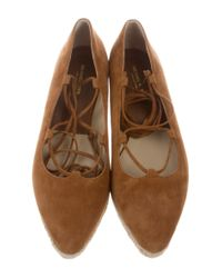 Michael Kors - Suede Lace-up Flats Brown - Lyst