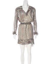 Étoile Isabel Marant - Silk Printed Dress Multicolor - Lyst