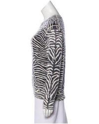 Michael Kors - Black Long Sleeve Knit Top - Lyst