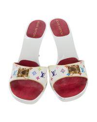 Louis Vuitton - Metallic Multicolore Monogram Slide Sandals Multicolore - Lyst