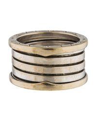 BVLGARI - Metallic B.zero1 Ring White - Lyst
