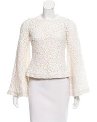 Elizabeth and James - White Guipure Lace Bell Sleeve Top - Lyst