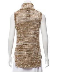 10 Crosby Derek Lam - Natural Sleeveless Chunky Knit Sweater Tan - Lyst