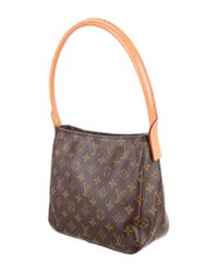 Louis Vuitton | Natural Monogram Looping Mm Brown | Lyst