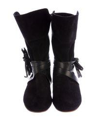 Isabel Marant - Black Nira Suede Boots W/ Tags - Lyst