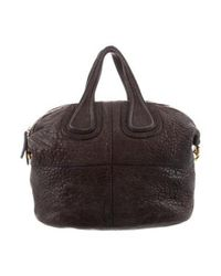 Givenchy - Metallic Leather Nightingale Satchel Brown - Lyst