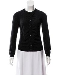 Boutique Moschino - Brown Virgin Wool Ruched Cardigan Wool - Lyst