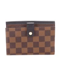 Louis Vuitton - Natural 2016 Damier Ebene Normandy Compact Wallet Brown - Lyst