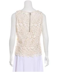 Alice + Olivia - White Sleeveless Guipure Lace Top W/ Tags - Lyst