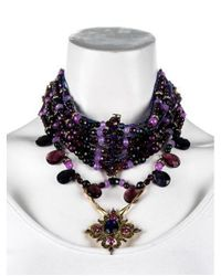 Erickson Beamon - Metallic Anna Sui Crystal & Quartzite Multistrand Necklace Gold - Lyst