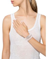Givenchy | Metallic Two Row Shark Lock Bracelet Tan | Lyst