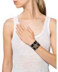 Chanel - Metallic Resin Star Cc Cuff Gold - Lyst