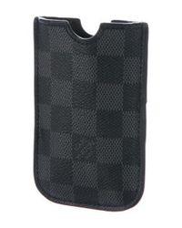 Louis Vuitton - Black Damier Graphite Iphone 4 Case for Men - Lyst