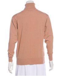Ryan Roche - Natural Cashmere Turtleneck Sweater Tan - Lyst