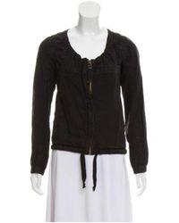 Étoile Isabel Marant - Black Linen-blend Collarless Jacket - Lyst