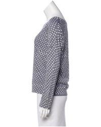 Current/Elliott - Gray Polka Dot Long Sleeve Top Grey - Lyst