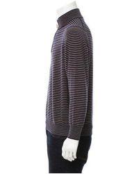 Brunello Cucinelli - Blue Cashmere Zip-up Sweater for Men - Lyst