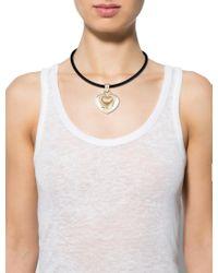 BVLGARI - Metallic 18k Heart Pendant Necklace Yellow - Lyst