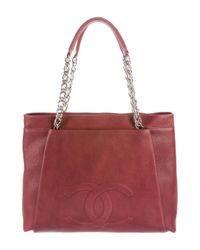 Chanel | Metallic Cc Tuck Tote Red | Lyst