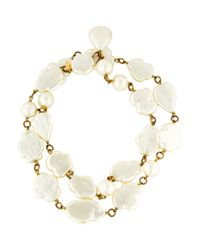 Chanel - Metallic Oversize Pearl Strand Necklace - Lyst
